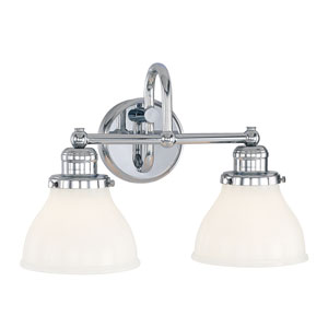 Baxter Chrome Two-Light Wall Sconce