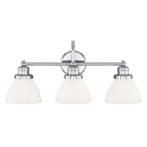 Baxter Chrome Three-Light Vanity