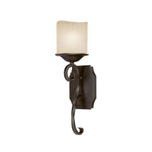 Montana Raw Umber One-Light Wall Sconce with Candlelight Glass