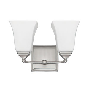 Brushed Nickel Two-Light Vanity Fixture