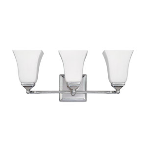 Polished Nickel Three-Light Vanity Fixture