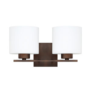 Steele Burnished Bronze Two-Light Vanity