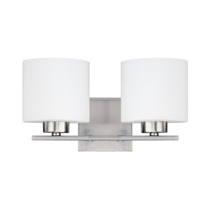 Steele Brushed Nickel Two-Light Vanity