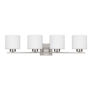 Steele Brushed Nickel Four-Light Vanity