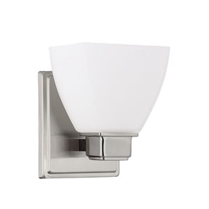 Brushed Nickel One Light Sconce