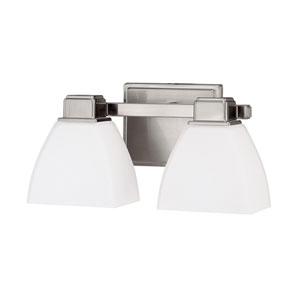 Brushed Nickel Two Light Vanity Fixture