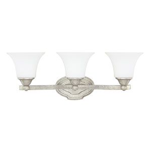 Blakely Antique Silver Three-Light Vanity