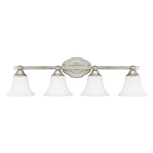 Blakely Antique Silver Four-Light Vanity