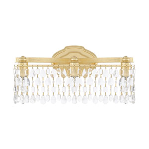 Blakely Capital Gold 19-Inch Three-Light Bath Vanity