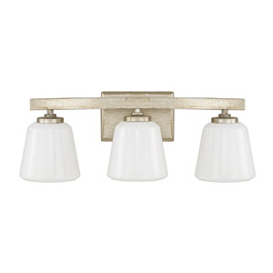 Berkeley Winter Gold Three-Light Vanity