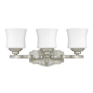 Blair Antique Silver Three-Light Vanity