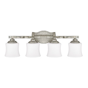 Blair Antique Silver Four-Light Vanity
