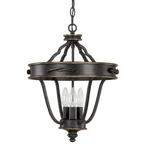 Wyatt Surrey Three-Light Dual Mount Foyer Pendant