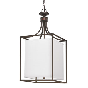 Midtown Burnished Bronze Two-Light Rectangle Fourteen-Inch Pendant