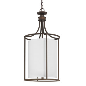 Midtown Burnished Bronze Two-Light Cylindrical Fourteen-Inch Pendant