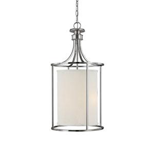 Midtown Polished Nickel Two-Light Lantern Pendant