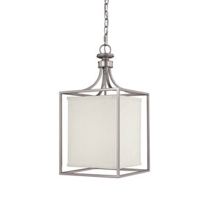 Midtown Matte Nickel Two-Light Lantern Pendant