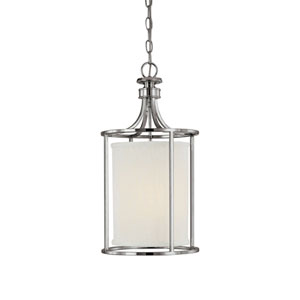 Midtown Polished Nickel Two-Light Lantern Pendant