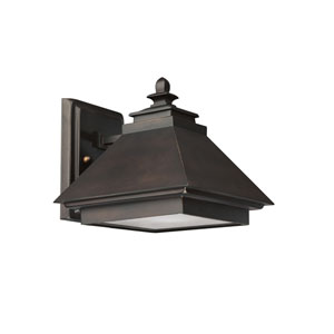 Burnished Bronze One-Light Outdoor Wall Light