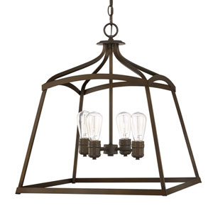 Burnished Bronze Four-Light Foyer Pendant