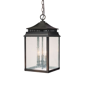 Sutter Creek Old Bronze Three-Light Outdoor Pendant