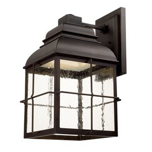 Lanier Old Bronze One-Light LED 13-Inch Wide Wall Lantern
