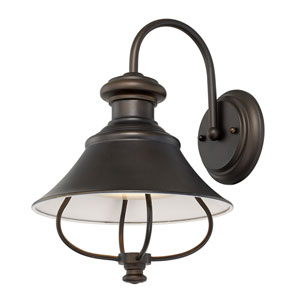 Outdoor Old Bronze One-Light LED Wall Lantern