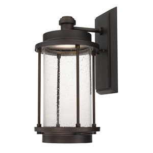 Grant Park Old Bronze One-Light 9.5-Inch Wide LED Wall Lantern