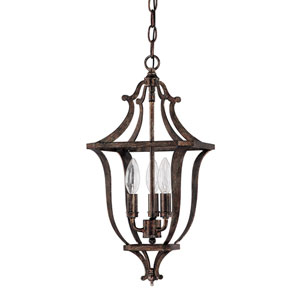 Corday Rustic Three-Light Foyer Fixture