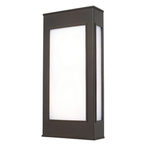 Outdoor LED Old Bronze One-Light 8.5-Inch Wide LED Wall Lantern