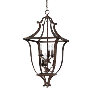 Corday Rustic Six-Light Foyer Fixture