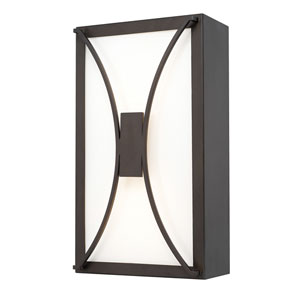 Outdoor LED Old Bronze One-Light 8-Inch Wide LED Wall Lantern
