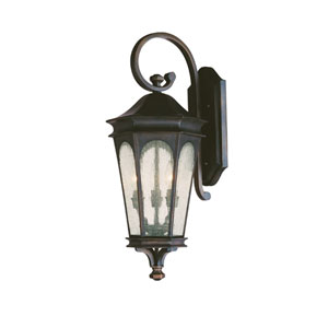 Inman Park Old Bronze Small Three-Light Outdoor Wall Light