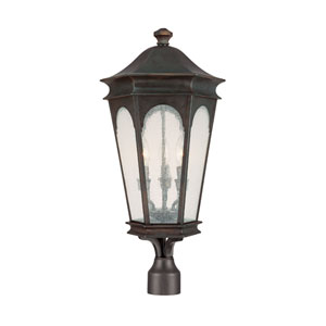 Inman Park Old Bronze Three-Light Outdoor Post Light