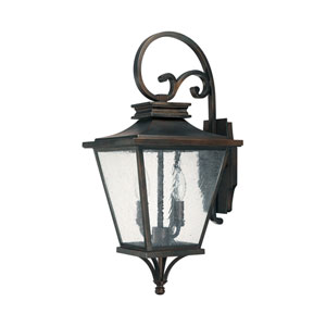 Gentry Old Bronze Two-Light Outdoor Wall Lantern