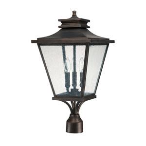 Gentry Old Bronze Three-Light Outdoor Post Lantern