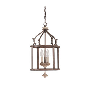 Chateau Small French Oak Three Light Foyer