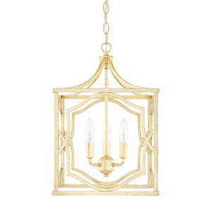 Blakely Capital Gold 13-Inch Three-Light Pendant