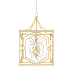 Blakely Capital Gold 18-Inch Four-Light Pendant with Crystal