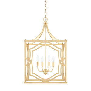 Blakely Capital Gold 18-Inch Four-Light Pendant