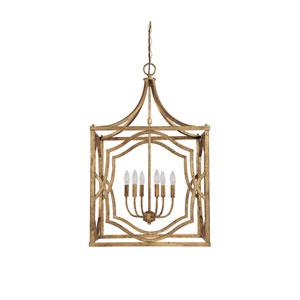 Blakely Antique Gold Six Light Foyer