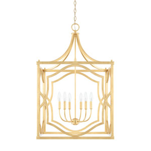 Blakely Capital Gold Six-Light Pendant