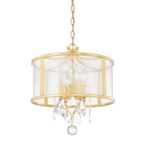 Blakely Capital Gold 15-Inch Four-Light Pendant