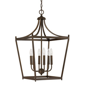Stanton Burnished Bronze Six-Light Foyer Pendant