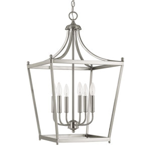 Stanton Brushed Nickel Six-Light Foyer Pendant