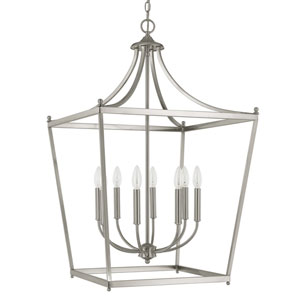 Stanton Brushed Nickel Eight-Light Foyer Pendant