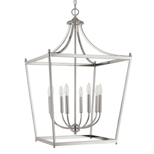 Stanton Polished Nickel Eight-Light Foyer Pendant