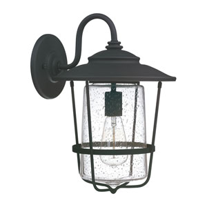 Creekside Black One-Light Eleven-Inch Wall Lantern