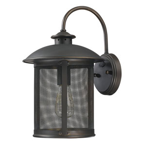 Dylan Old Bronze One-Light Outdoor Metal Wall Lantern