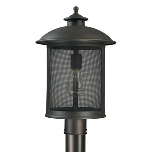 Dylan Old Bronze One-Light Outdoor Post Mount